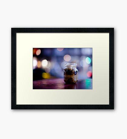 glass jar@night Framed Print