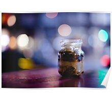 glass jar@night Poster