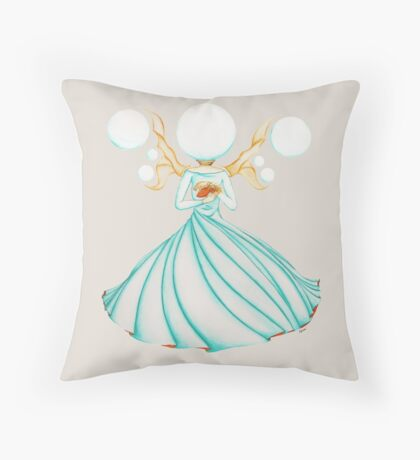 The Electricity Fairy Throw Pillow