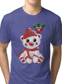 Christmas Bear  Tri-blend T-Shirt