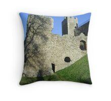 West Curtain Wall, Framlingham Castle Throw Pillow