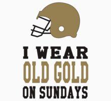 I Wear Old Gold on Sundays Kids Tee
