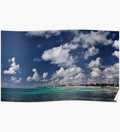 Beach near Playa de Carmen Poster
