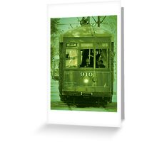 St Charles Trolley Greeting Card