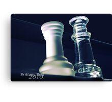 Glass Chess Set Canvas Print