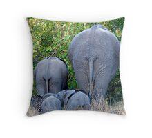 Elephant Roadblock Throw Pillow