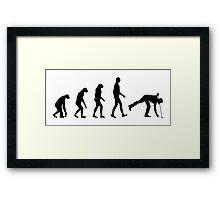 Evolution Golf Framed Print