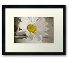 She loves me - She loves me not Framed Print