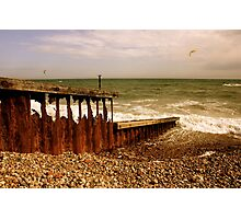 The Irresistable Force and the Immovable Object - Worthing Photographic Print