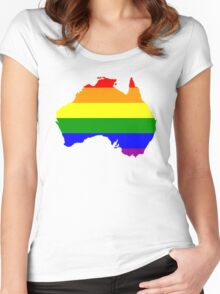 Australia Gay Marriage Design Women's Fitted Scoop T-Shirt