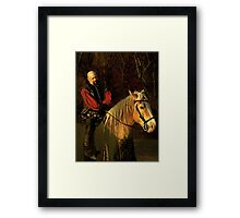Master of the Lists Framed Print