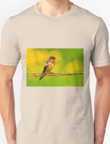 Barn Swallow On Barbwire T-Shirt