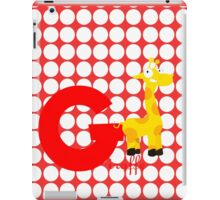 g for giraffe iPad Case/Skin