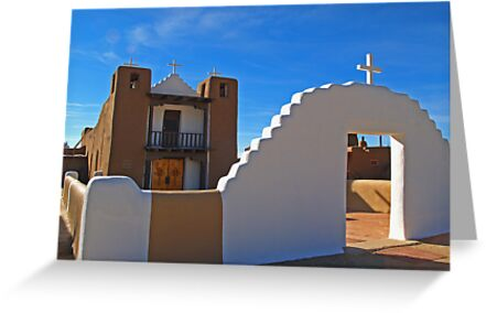 San Geronimo Church, Taos, New Mexico by Steve Hunter