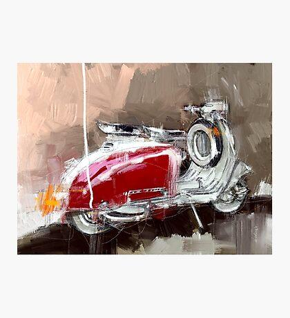 Red Lambretta Photographic Print