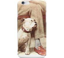 Bulldog Puppy vintage iPhone Case/Skin