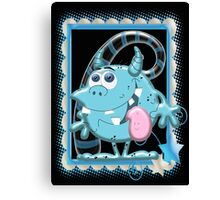 Blue Monie  Canvas Print