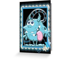 Blue Monie  Greeting Card