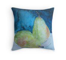 Blushing Pears Throw Pillow