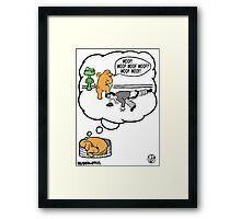 Dogs Dream. Framed Print
