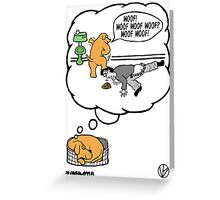 Dogs Dream. Greeting Card