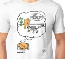 Dogs Dream. Unisex T-Shirt