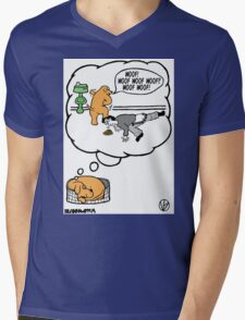 Dogs Dream. Mens V-Neck T-Shirt