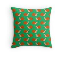 Cute Garden Cartoon Snail Pattern Throw Pillow
