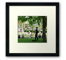 Juggler in Eyre Square, Galway, Ireland. Framed Print