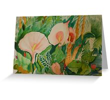 Calla lily with frogs Greeting Card
