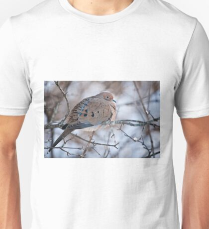 Mouring Dove In Shrubs Unisex T-Shirt