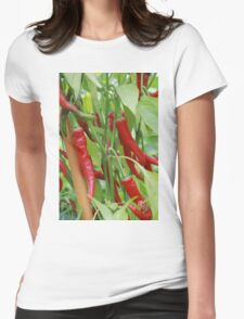 Red hot chilli Womens Fitted T-Shirt
