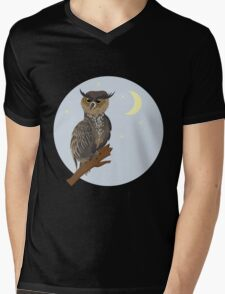 Horned Owl on a Branch 2 T-Shirt