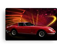 "1967 Ferrari 275 GTB/4 Berlinetta ""Catch Me, If You Can!"" #1 Canvas Print"
