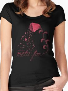 What's a meta for? Women's Fitted Scoop T-Shirt