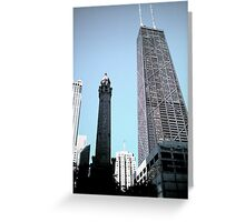 Standing in the Shadows of Giants on Michigan Ave. Greeting Card
