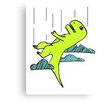 Falling T-Rex Canvas Print
