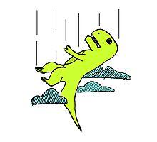Falling T-Rex Photographic Print
