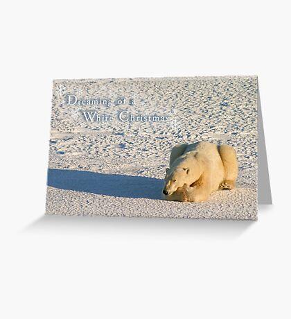 Polar dreams of a White Christmas Greeting Card
