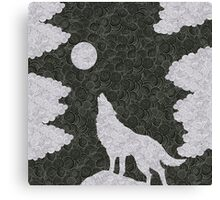 Wolf in the night Canvas Print