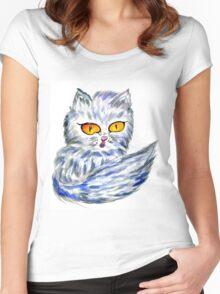 Persian Cat Women's Fitted Scoop T-Shirt