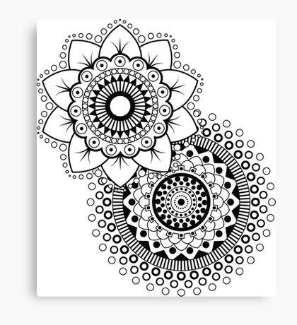 Mandala Flower duplo Canvas Print