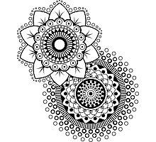 Mandala Flower duplo Photographic Print