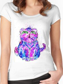 Painted Cat Women's Fitted Scoop T-Shirt
