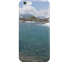 landscape with lac and snow iPhone Case/Skin