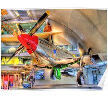 North American P-51D Mustang - Hendon - HDR Poster