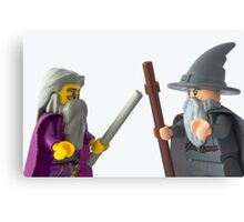 There's only one way to settle this... Wizard off Canvas Print
