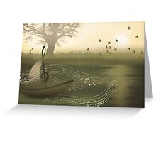 * river of music * Greeting Card