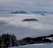 landscape with snow and clouds by Theorgasmic1975