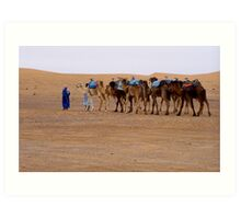 Camel Train Art Print